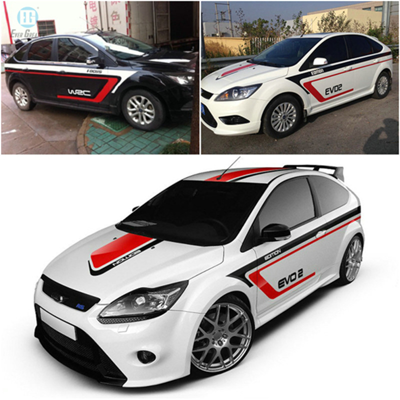 [Hot Item] Vinyl Body Side Graphics Racing Stripes Car Sticker