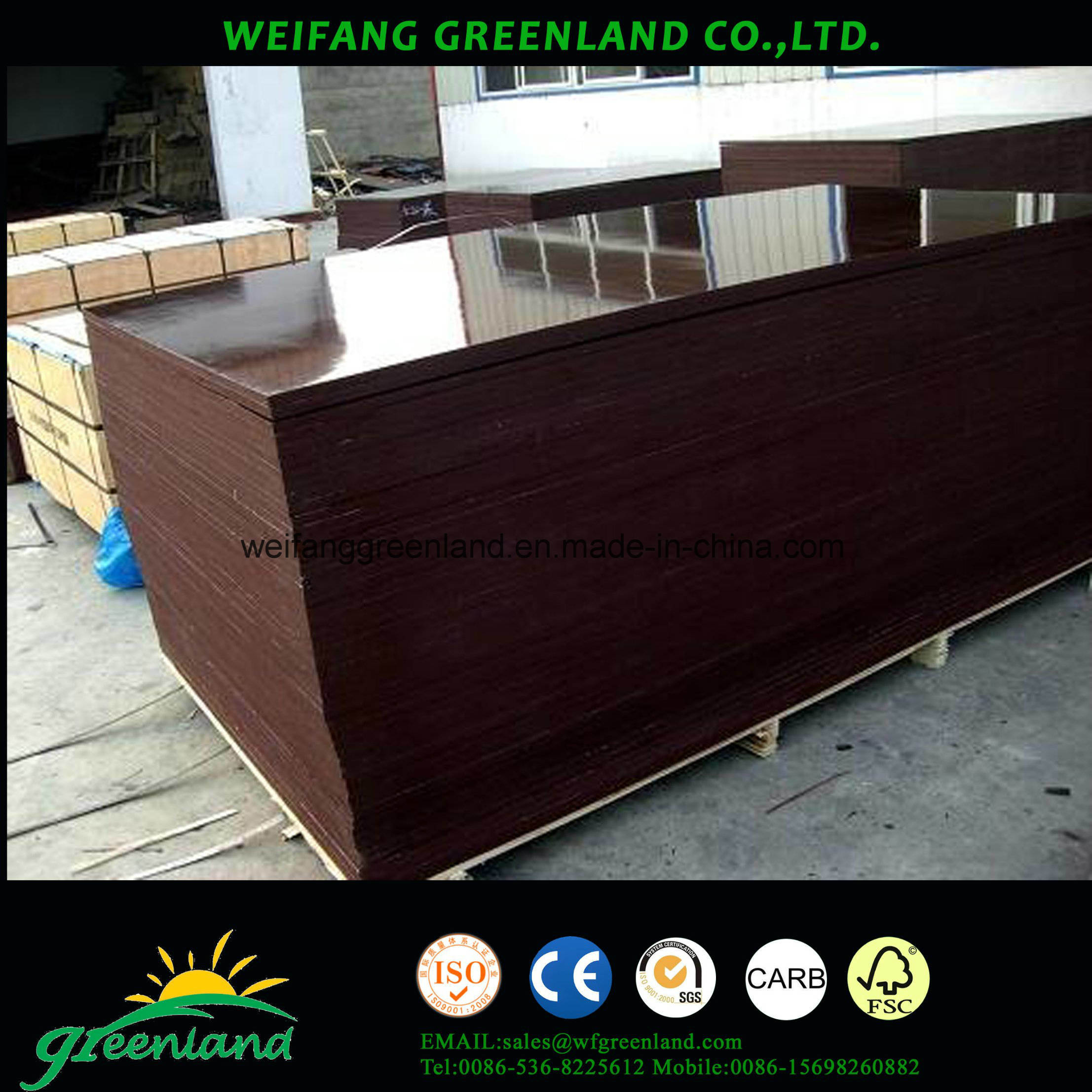 Long Using Life Marine Film Faced Plywood for Construction