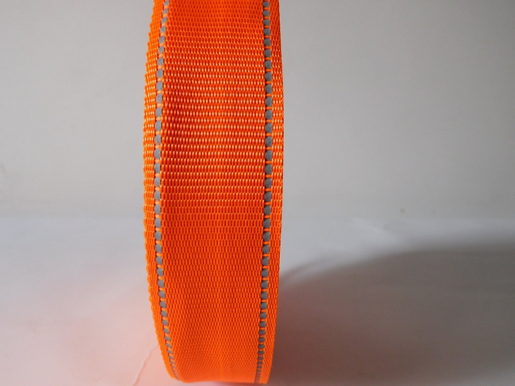 35mm Orange Polyester Webbing for Garment Accessories