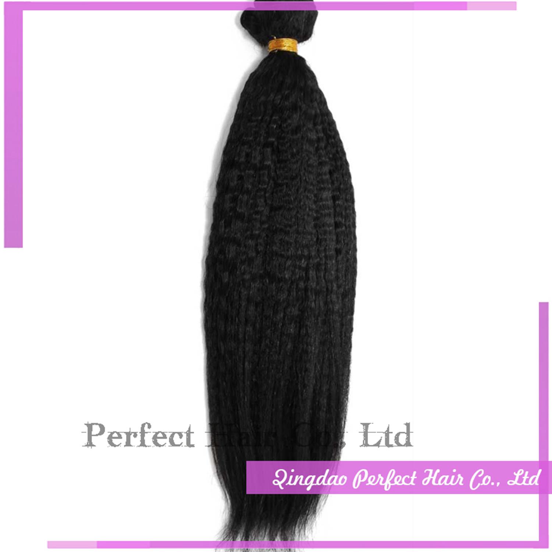China Remy Human Hair Weft Virgin Brazilian Yaki Curly Hair