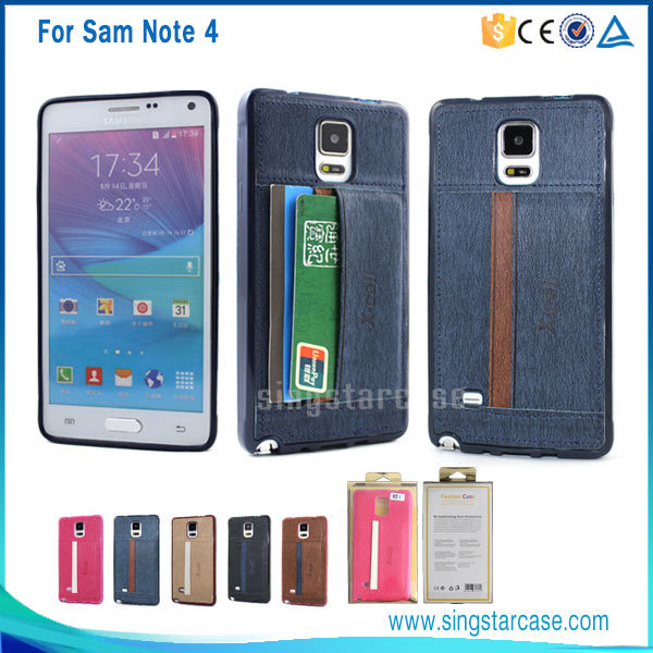 new concept b17ec 13e4f [Hot Item] Luxury Leather Case for Samsung Galaxy Note 4, for Samsung Note  4 Case with Card Slot, Colorful for Samsung Galaxy Note 4