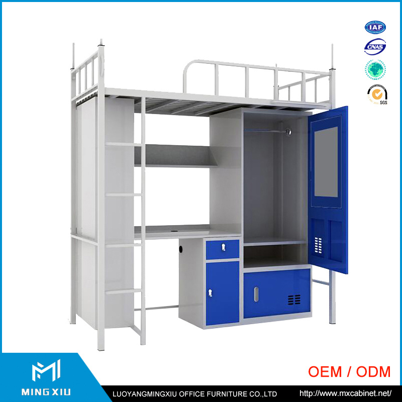 China Supplier Student Dormitory Metal Bunk Bed / Bunk Bed with Desk pictures & photos