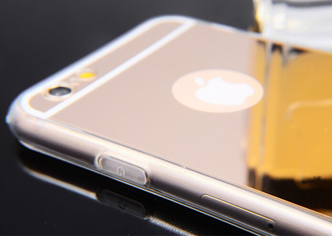 Newest Products Ultra-Thin Electroplating Soft TPU Cell/Mobile Phone Cover for iPhone 6 6s Mirror Case pictures & photos