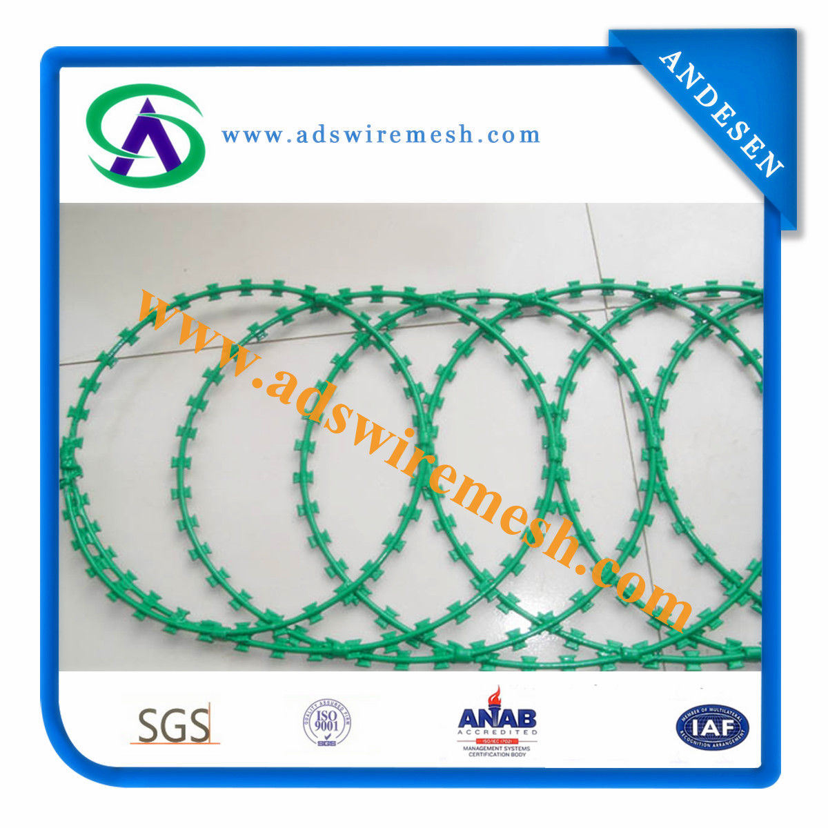 China Concertina Razor Wire (Bto-10/Bto-22/CBT-60/CBT-65) - China ...