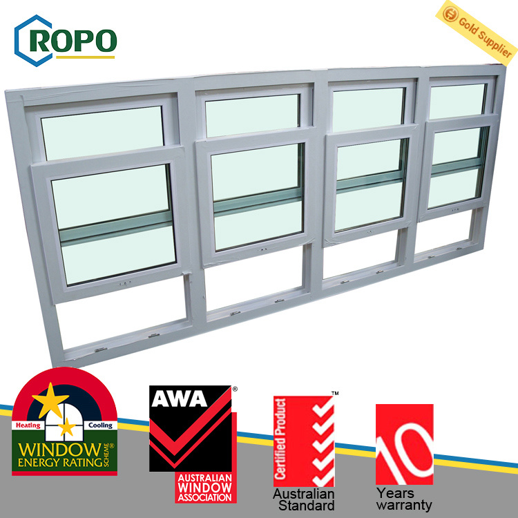 China Soundproof UPVC/PVC Plastic Double Hung Windows Designs for ...