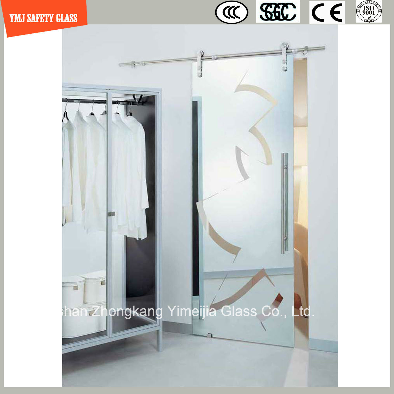 China 4 19mm Safety Clear And Pattern Flatbent Temperedtoughened