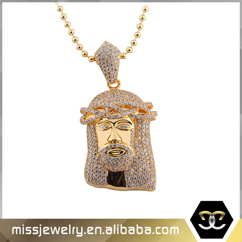 China Latest Gold Jesus Pendant Necklace Designs Men Mjhp006 China Gold Jesus Piece Pendant And Jesus Pendant Price