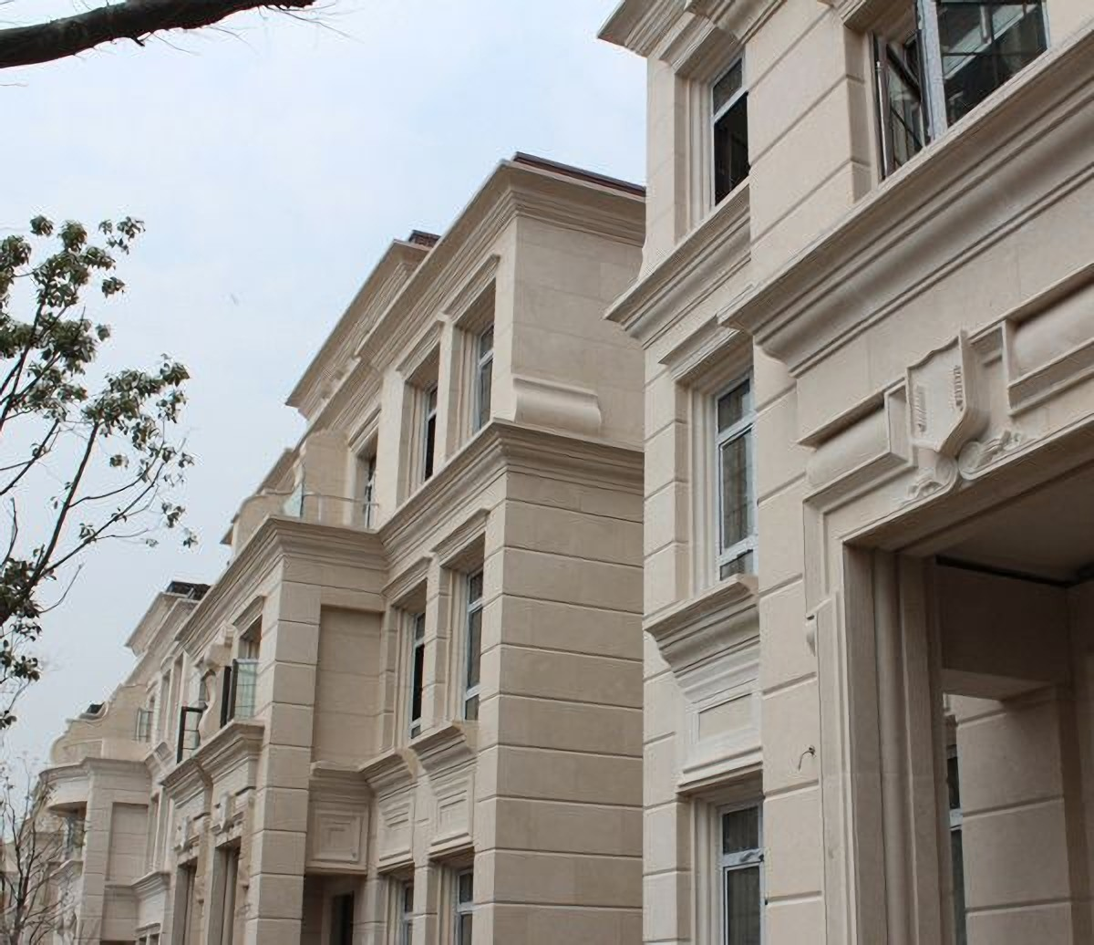 China White Moca Cream Limestone Marble Wall Tiles Exterior Cladding Facades Stone Photos Pictures Made In China Com