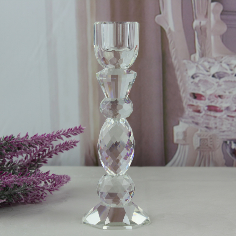 China Crystal Candleholder Tealight Holder White Sparkle Wedding