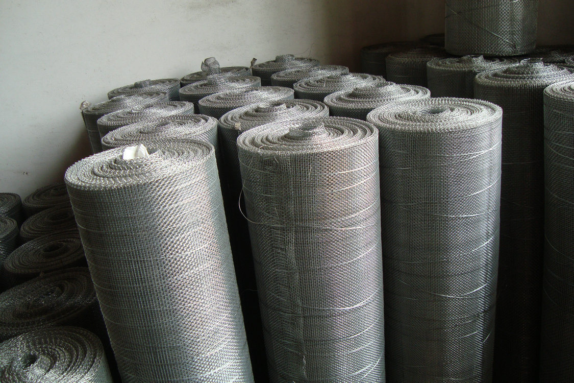 China Galvanized Square Woven Wire Mesh Screen - China Woven ...