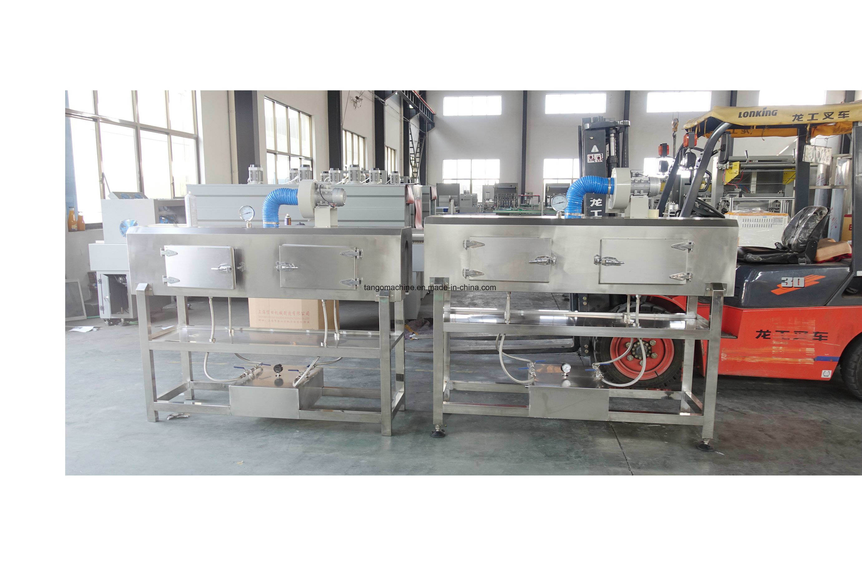 Automatic Double Heads Round Bottle Eshrink Sleeve Labeling Machine pictures & photos