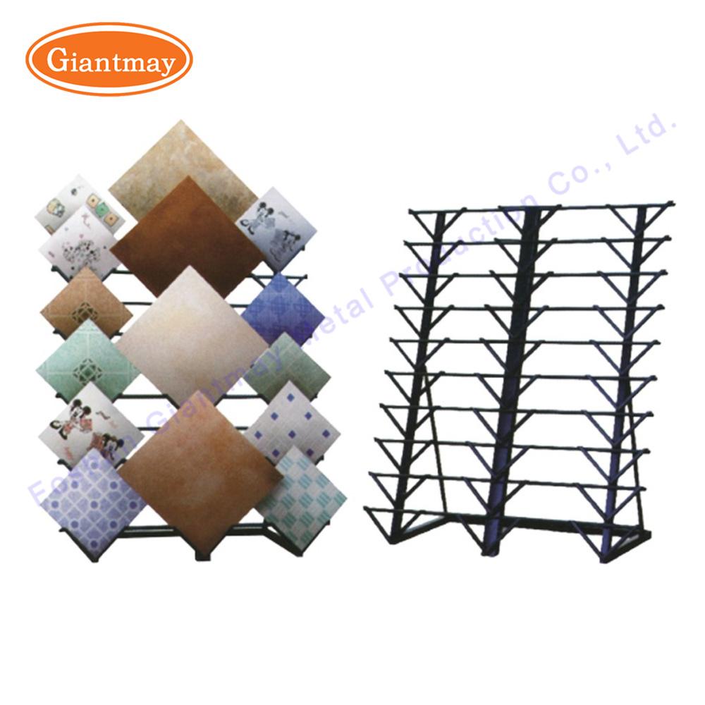 China Fashionable Metal Ceramic Floor Tile Showroom Display Rack