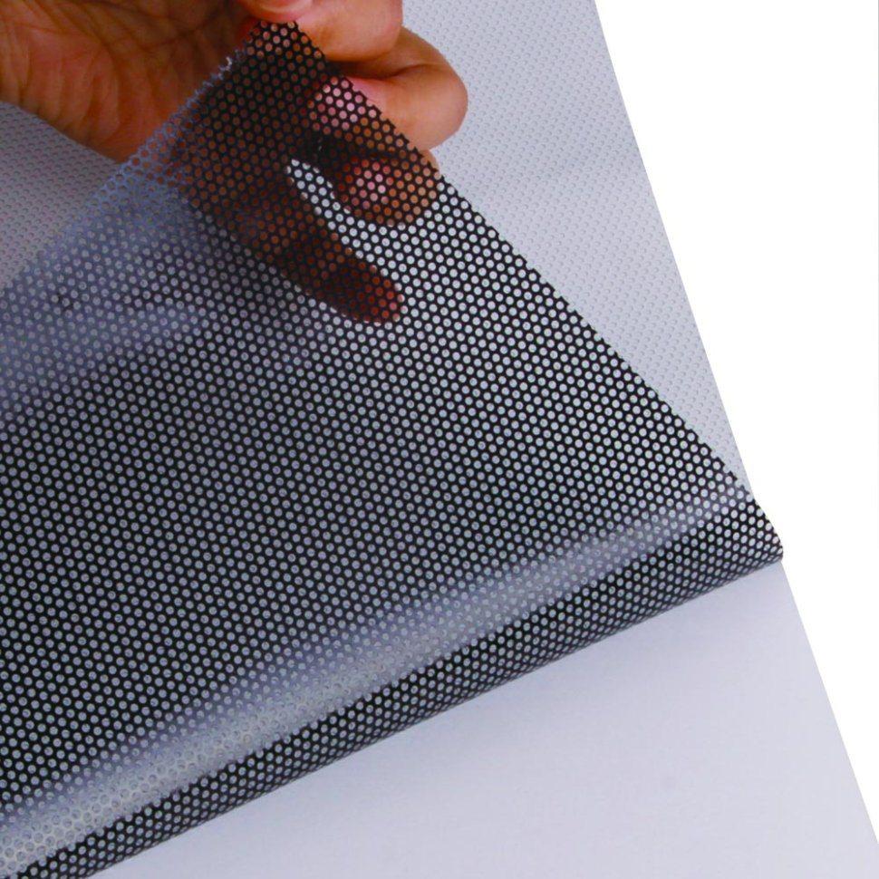 China Premium Grade Micro Perforado Vinil One Way Vision Single Side Kaca Film Oneway Sticker Uv Printing
