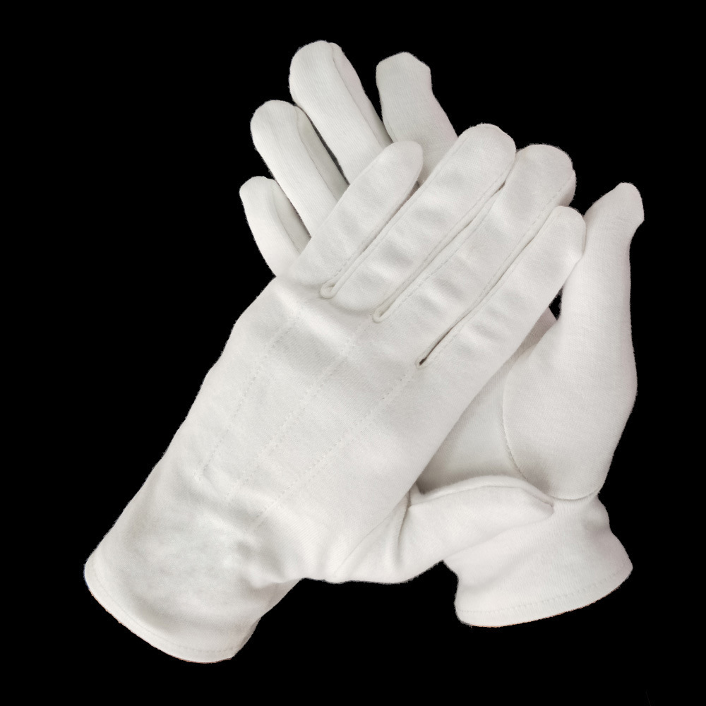 Ceremonial White Gloves Parade Multi Purpose Cotton Gloves Masonic Gloves