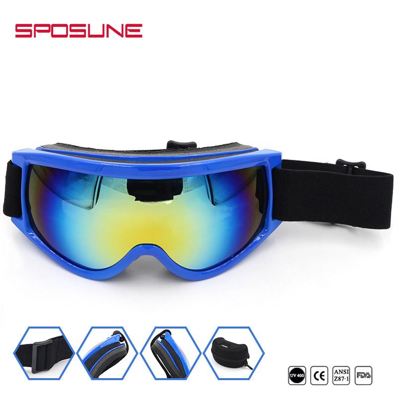 80c6415cd637 China Multi-Color PC Lens Anti Impact Safety Glasses Ski Goggles ...