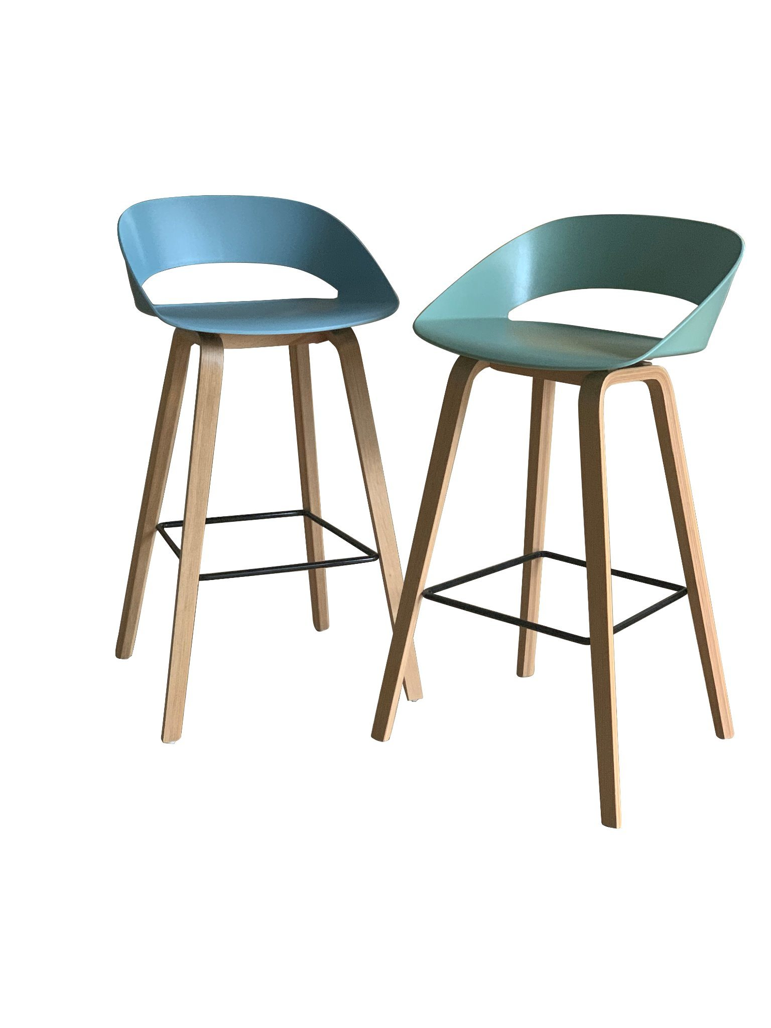 China Foshan Supplier Plastic Restaurant Solid Wood Leg Blue Color Bar Stool Chair Furniture Photos Pictures Made In China Com