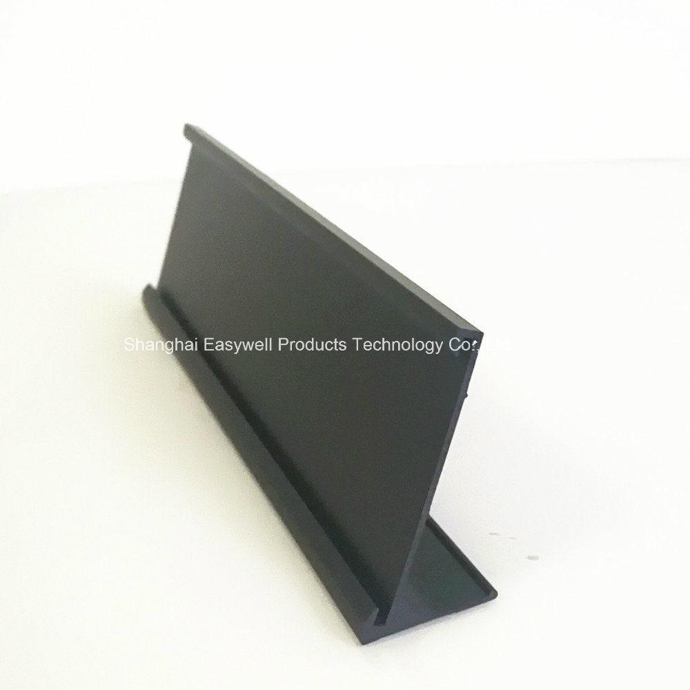 China Matte Black Desk Name Plate Holders Holder Aluminum