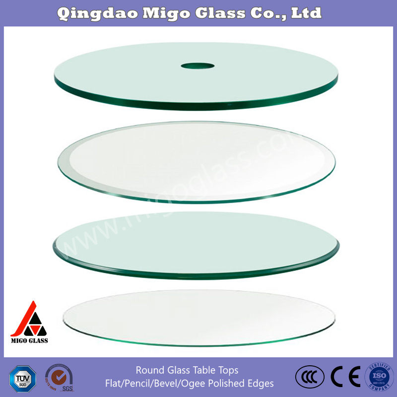 China 20 24 26 28 Square Clear Tempered Glass Table Top 3 8 Thick Glass With Flat Beveled Pencil Polished Edge Photos Pictures Made In China Com