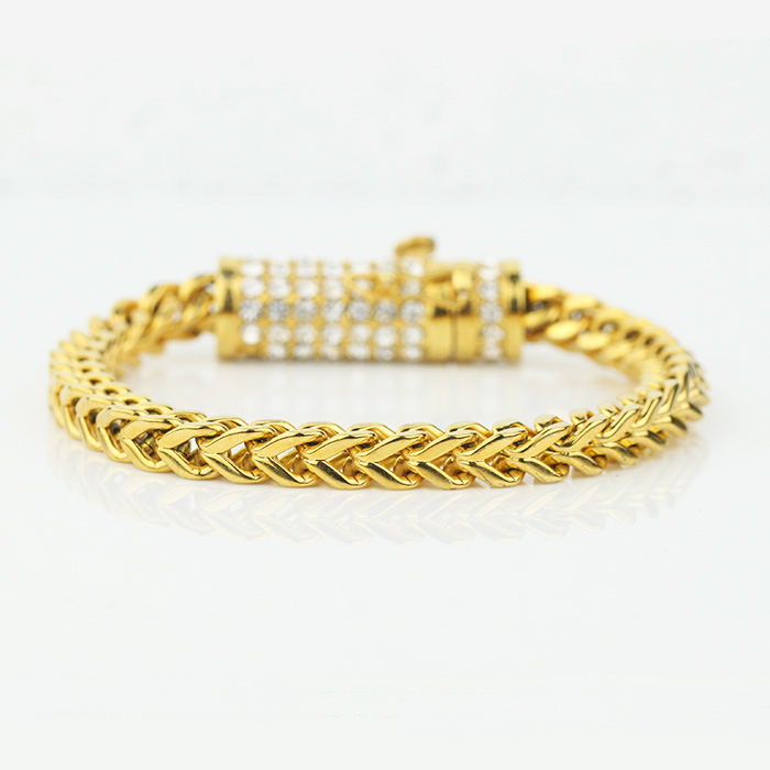 gg gold solid yellow mens goods deals groupon bracelet s men franco latest