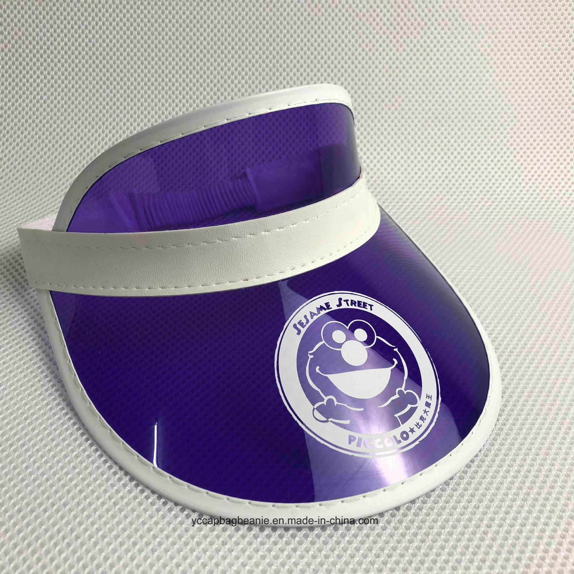 25776c7a8434d China Popular Promotional Plastic PVC Sun Visor Hat Photos ...