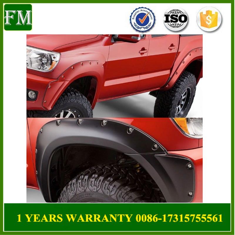 China 2012 2015 Tacoma Matte Black Abs Pocket Riveted Wheel Fender Flares China Tacoma Accessories Tacoma Auto Parts