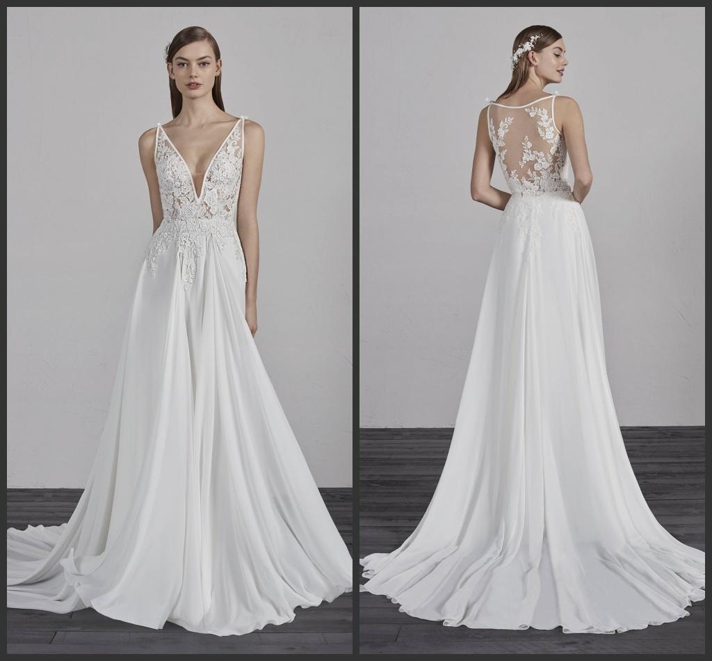 China Sheer Bodice Wedding Gown Sleeveless Beach Boho Bridal Dress ...