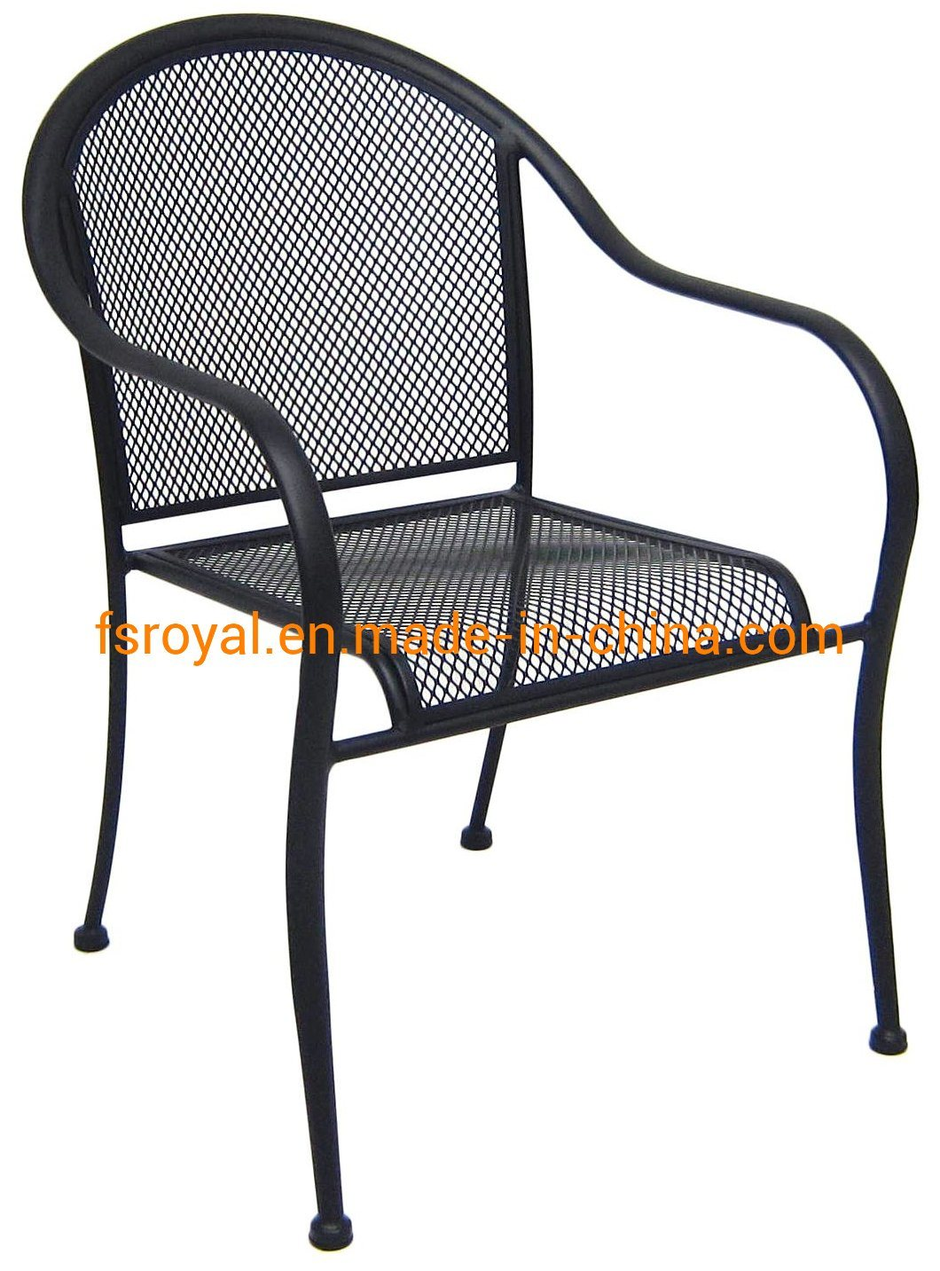 [Hot Item] Commercial Furniture Modern Furniture Metal Furniture Black Mesh  Outdoor Restaurant Dining Chair