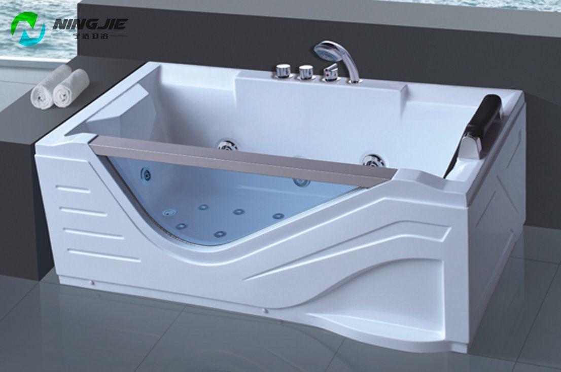 China with TV Double Air Bubble Bath Massage Bathtub Jacuzzi (5211 ...