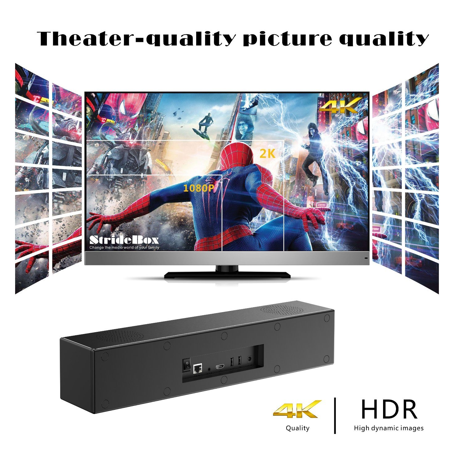 China Family Theatre Android Smart TV Box Stride Box with Bt