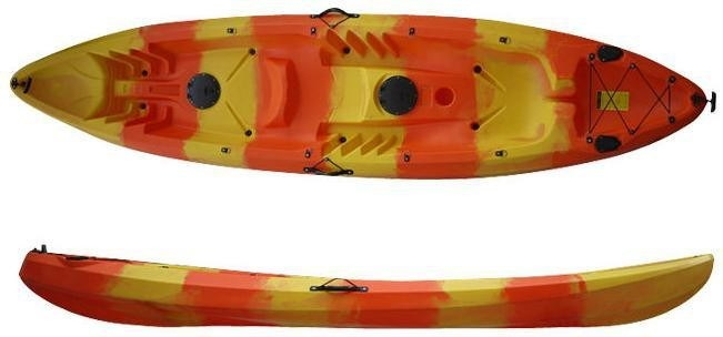 China High Quality And Design Plastic Single Fishing Kayak 2 1 Seats And Canoe China Kayak And Single Fishing Kayak Price