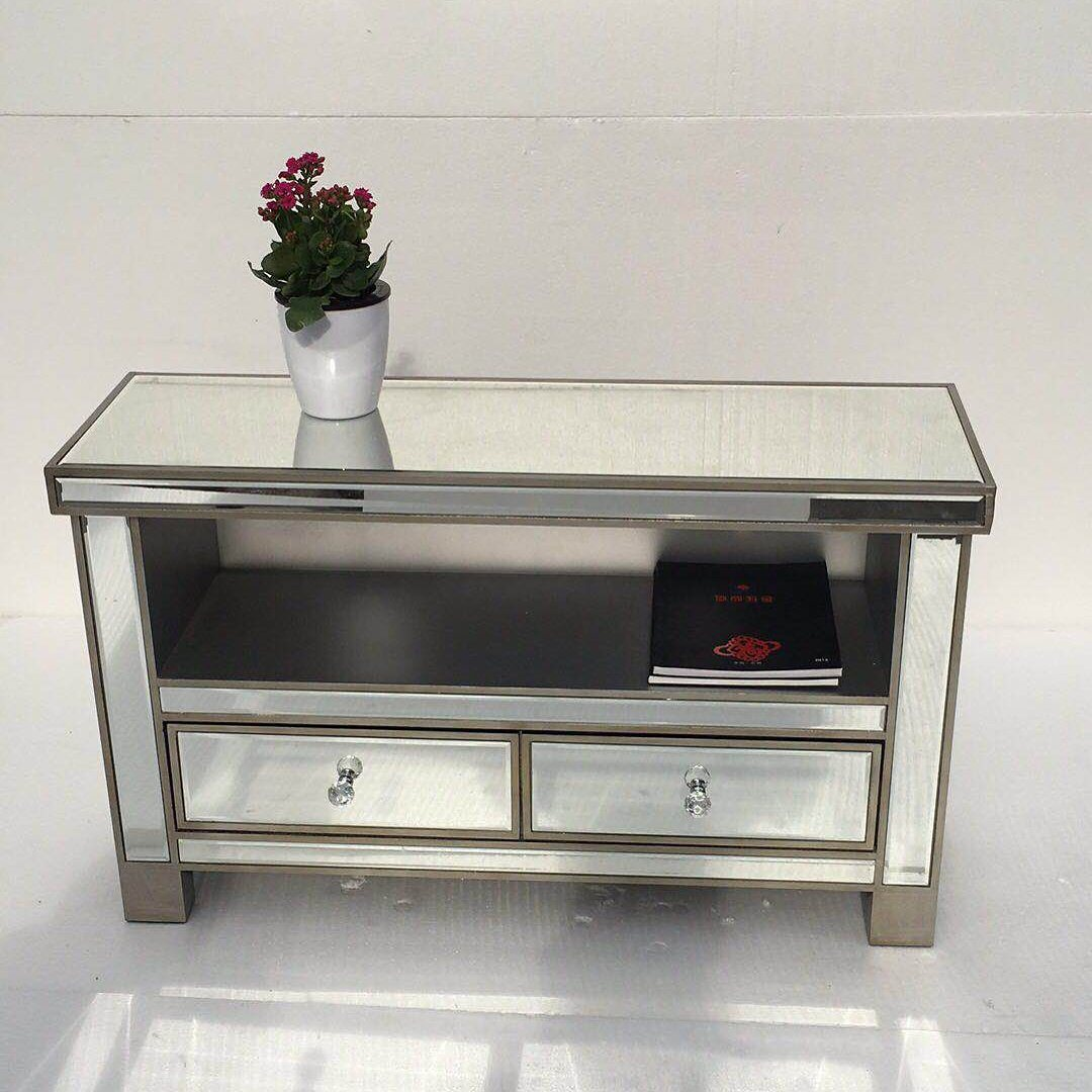 China Home Furnishing Glass Table Living Room Furniture Mirrored TV ...