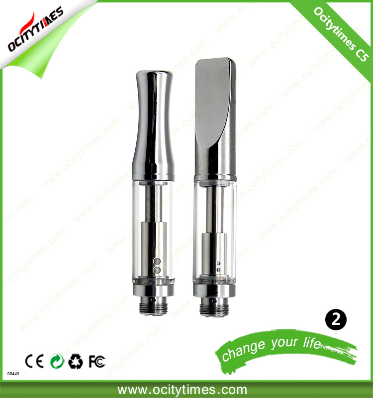 [Hot Item] Health Care Products No Leak Vape Tank Thc Metal Mouthpiece  Empty Glass Cartridge
