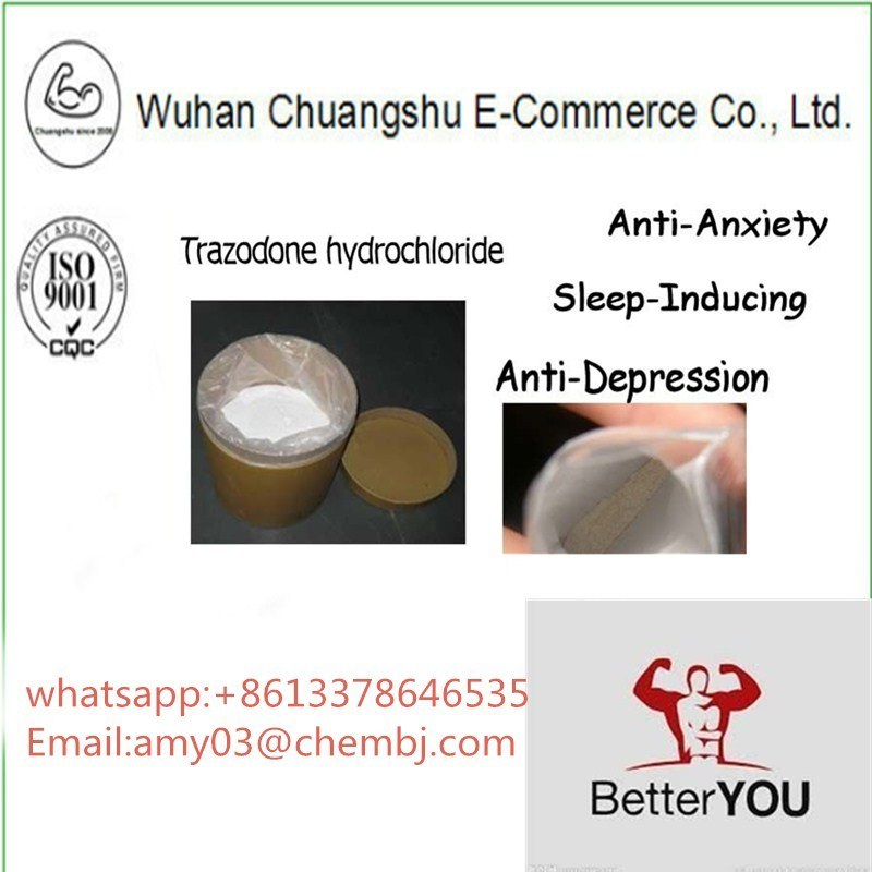 [Hot Item] High Purity Trazodone Hydrochloride Powder for Antidepressant  CAS25332-39-2