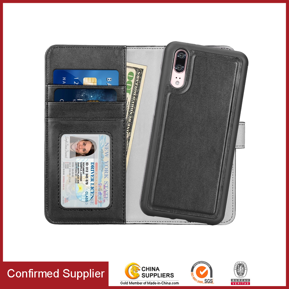 half off 987cb bca5d [Hot Item] Detachable Cell Phone Folio Wallet Phone Case for Huawei P20