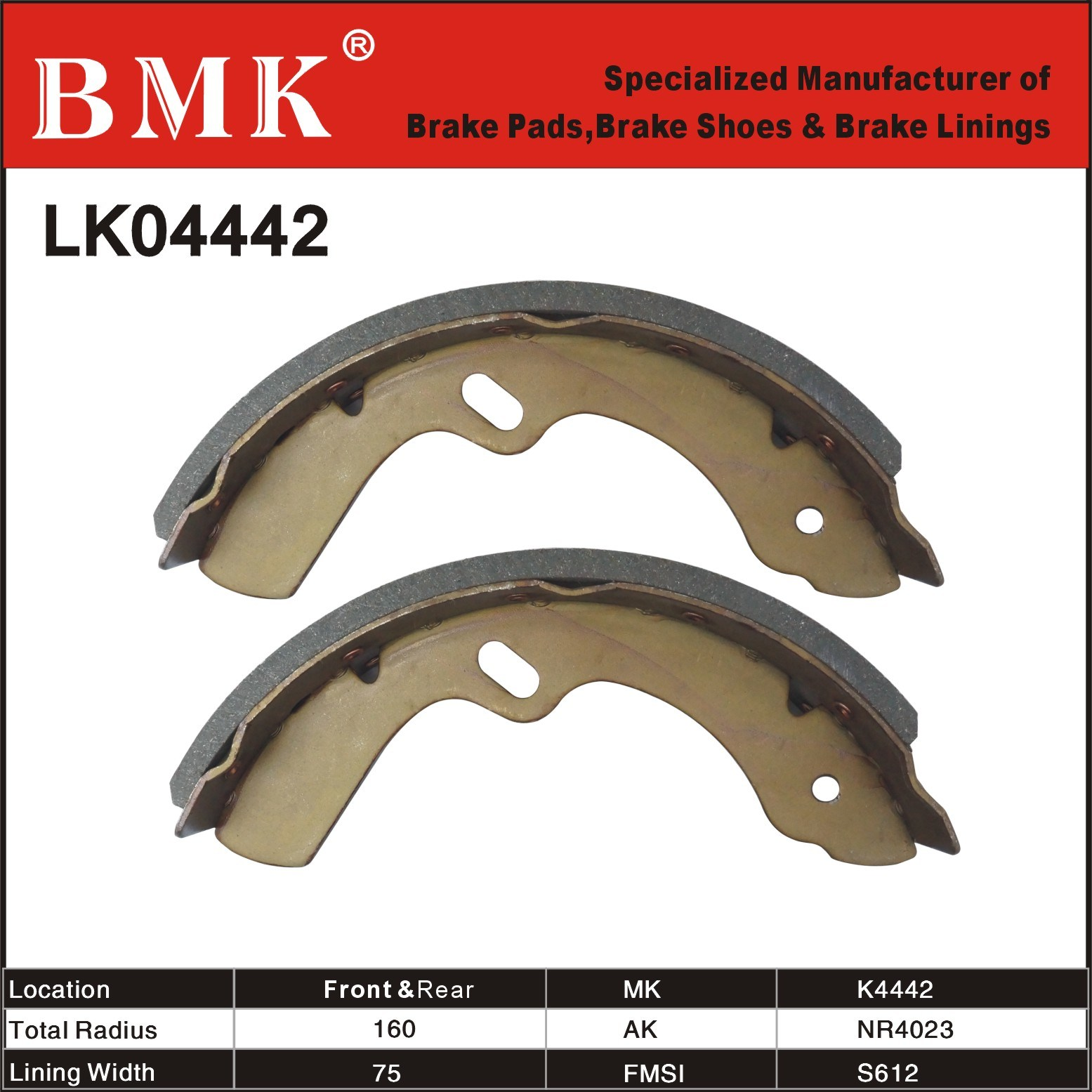 High Quality Isuzu Brake Shoes (K4442)