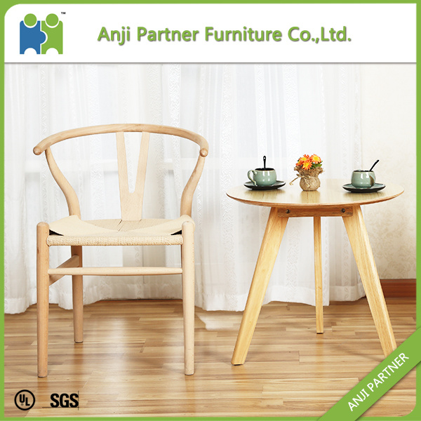 Light Yellow Convenitent Wax Wood Dining Chair with Paper Rattan Seat (Andrea) pictures & photos