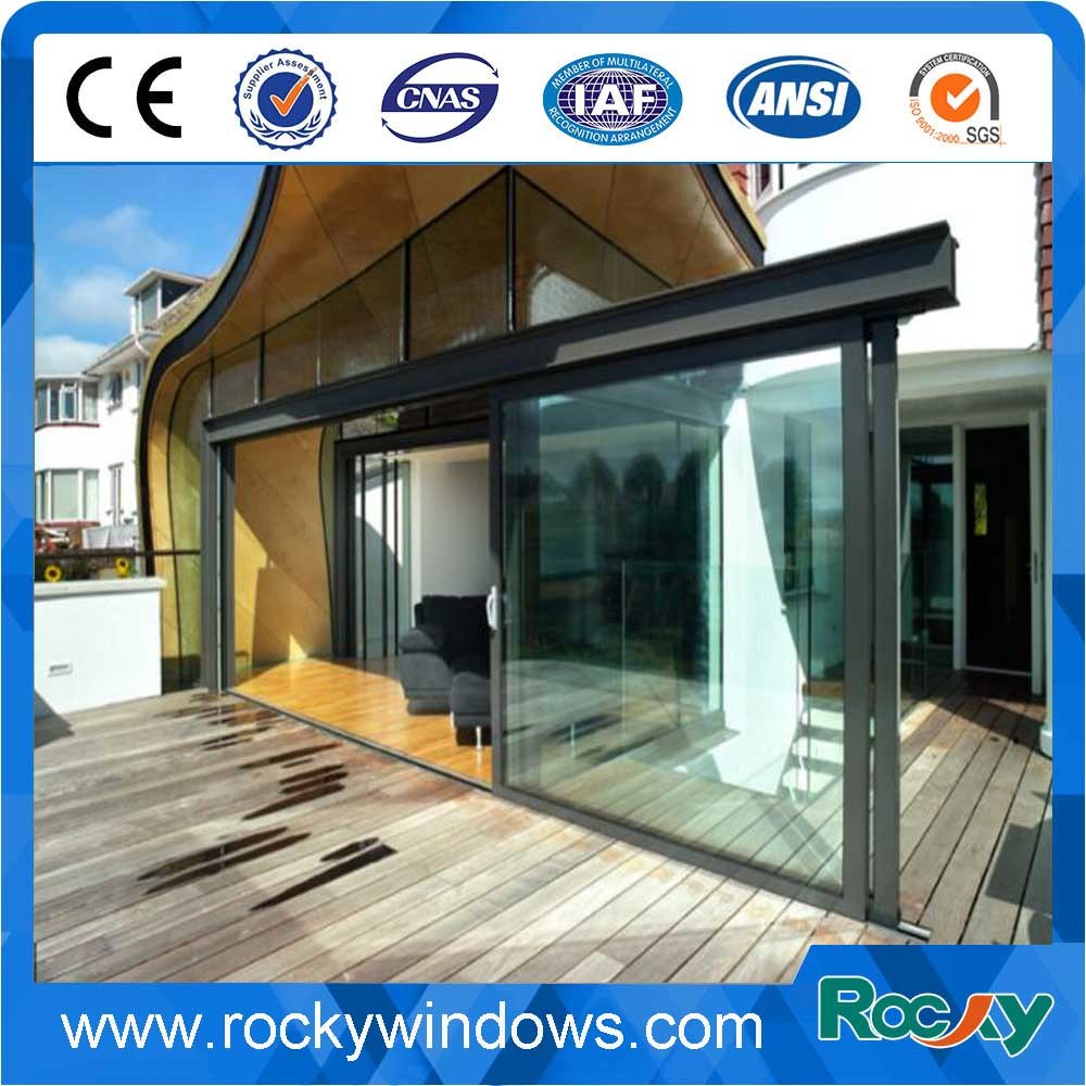 China White Black Gray Brown Customized Color And Size Aluminum Frame Sliding Glass Door Aluminium