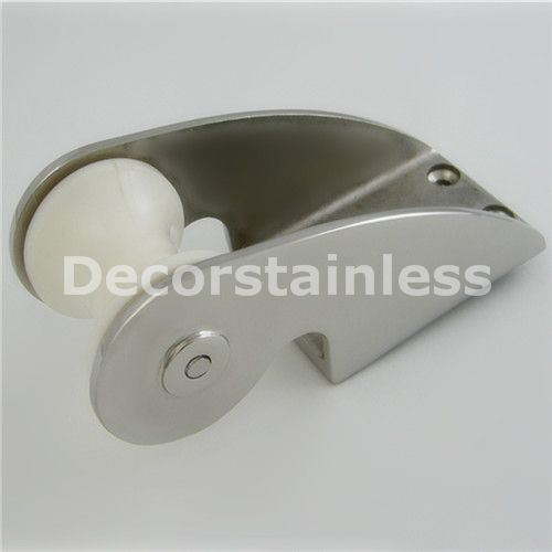 Stainless Steel Bow Anchor Roller Bracket Rubber Roller 160mm For Boat//Yacht