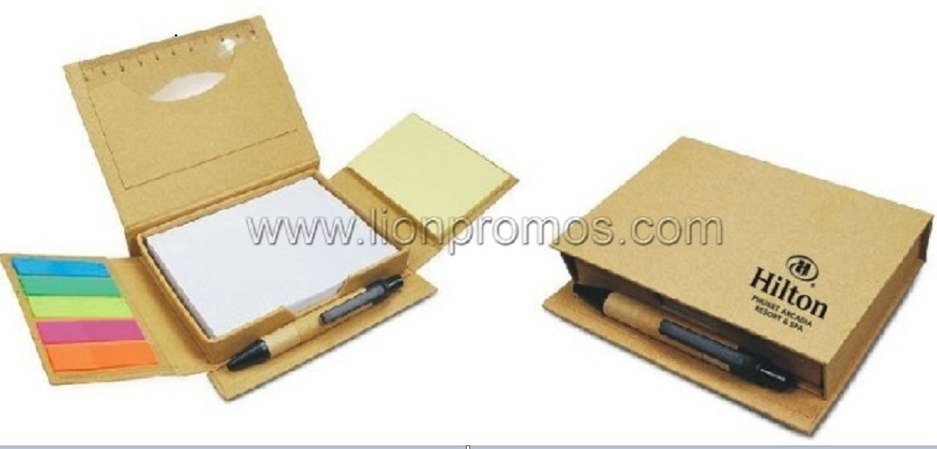 hilton hotel logo eco friendly gift recycled paper memo pad