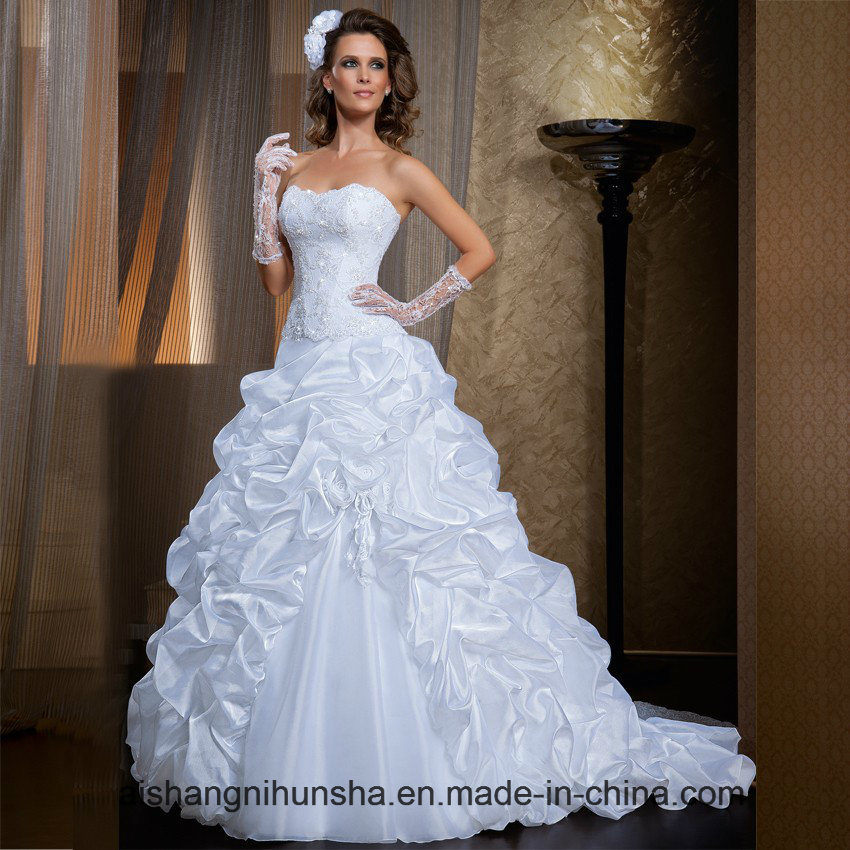 China Two Piece Detachable Skirt Wedding Dresses Satin Wedding Gowns ...