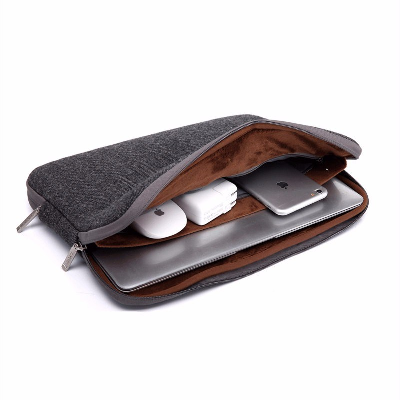 detailing 89d28 1beec [Hot Item] Felt Waterproof Laptop Bag Case for MacBook PRO 13 Case Women  Men 11 14 15 15.6 for MacBook Air 13 Case Laptop Sleeve Case 13.3
