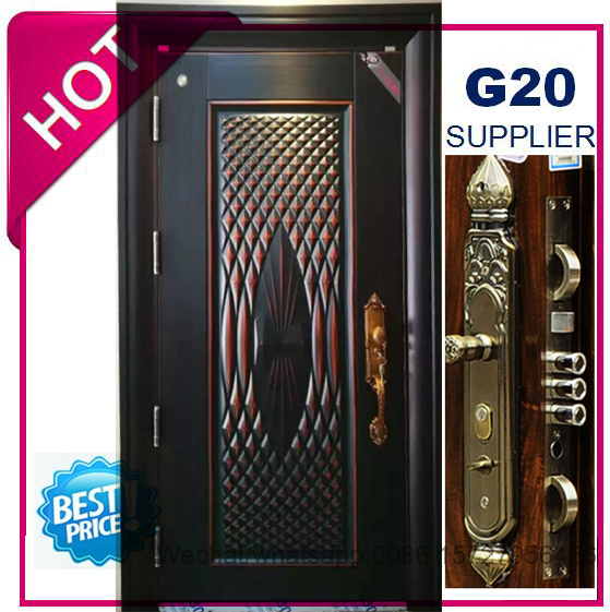 Best Price Security Exterior Steel Iron Door (EF-S073ZM) pictures & photos