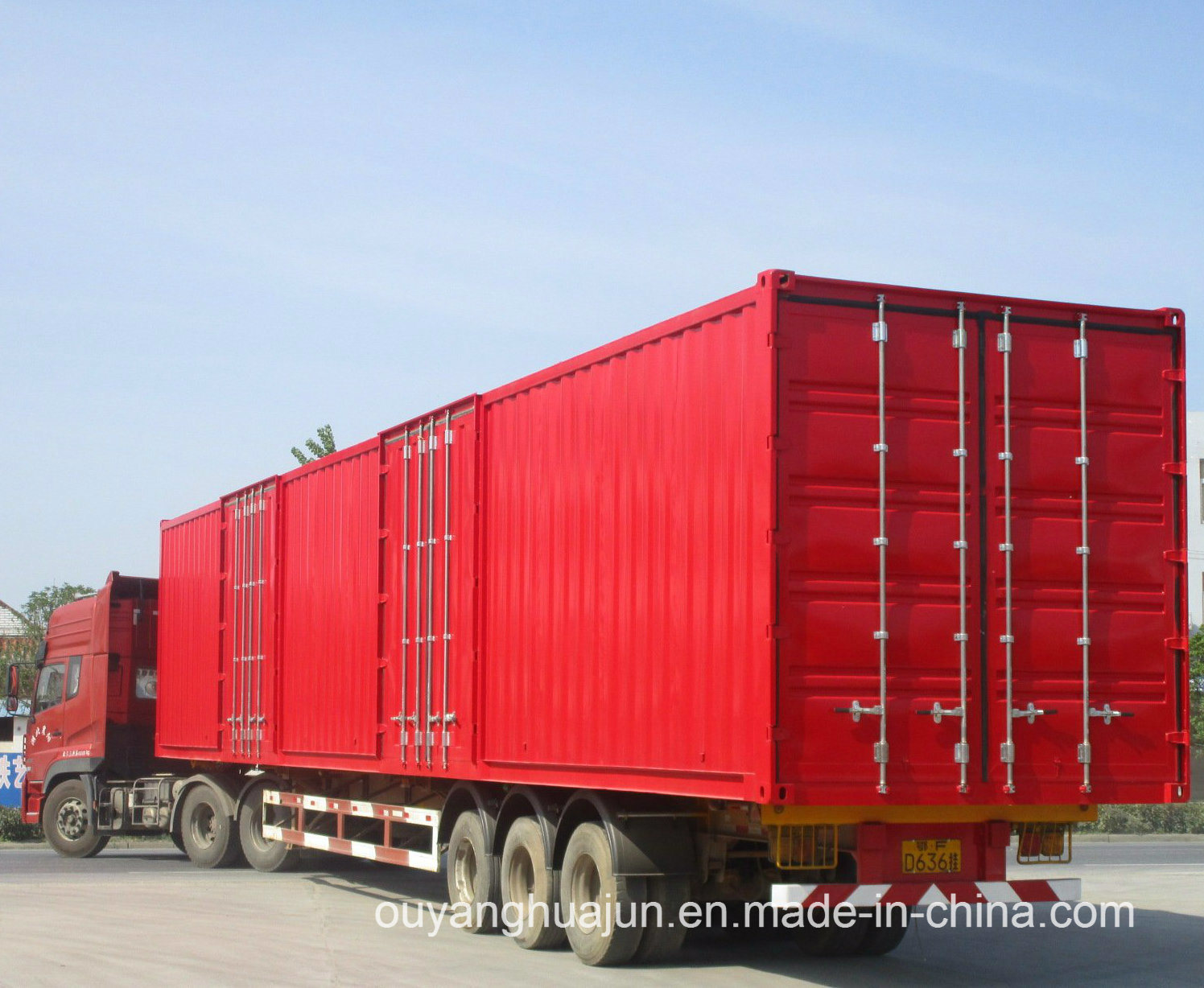48 Feet Van Type Container Semitrailer