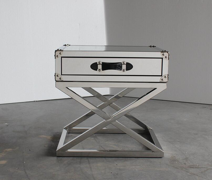 San Francisco Stainless Steel with Glass Top Side Table, Small Coffee Table pictures & photos