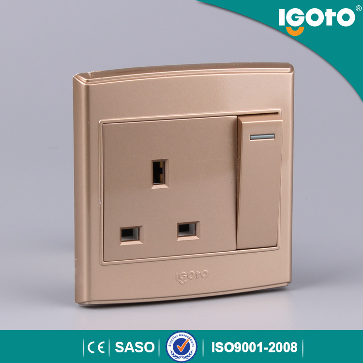 China High Quality 1 Gang 13A Wall Switches and Socket Brand - China ...