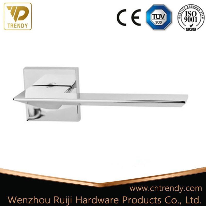 China Internal Door Handle Straight Type Polished Chrome Door Lever Handle    China Straight Door Handle, Polish Chrome Door Handle