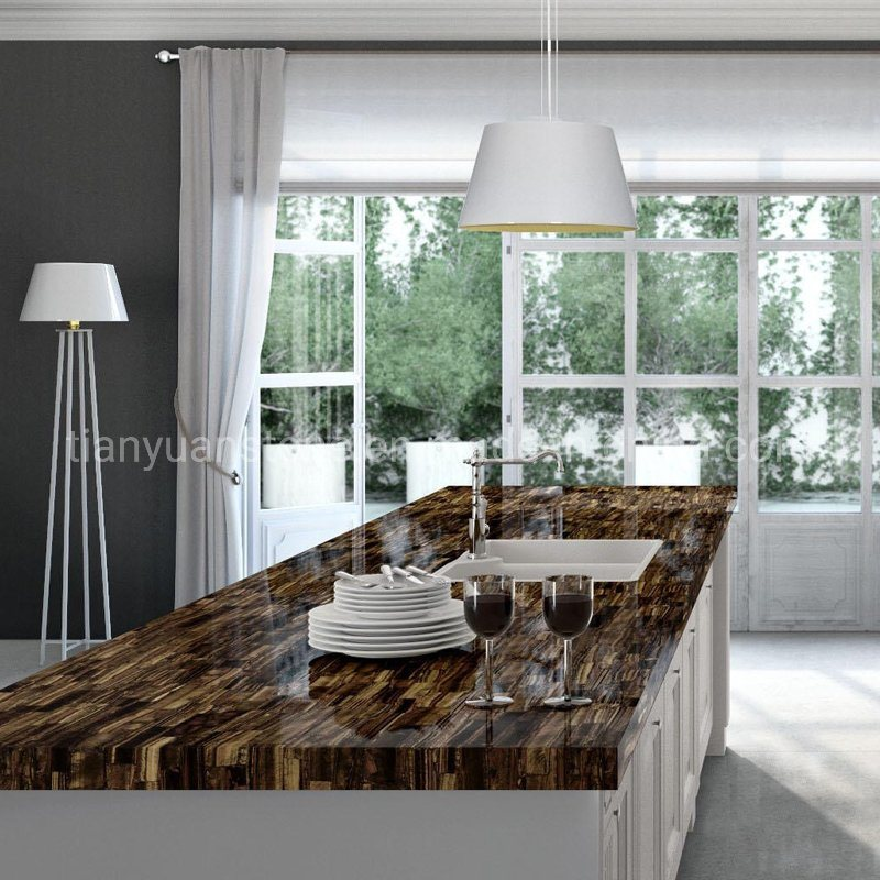 Luxury Stone Slab Kitchen Countertop And Table Top Design Yellow Tiger Eye Stone China Amethyst Gemstone Made In China Com