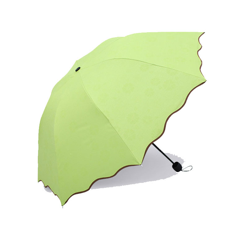 Quality Fashion Solid Color Mini Pocket Sized Pouch Umbrella 3 Fold pictures & photos