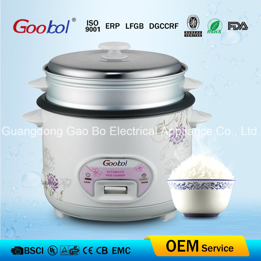 Oval Control Panel Rice Cooker with Non-Stick Inner Pot