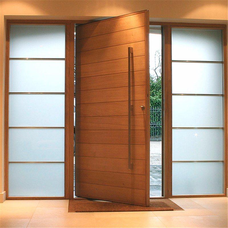 Residential Main Entry Door Modern Design Pivot Wood Doors
